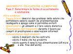 argomento educazione alimentare fase 2 determinare le forme di accertamento e valutazione1