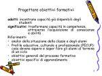 progettare obiettivi formativi