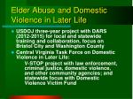 elder abuse and domestic violence in later life