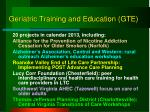 geriatric training and education gte