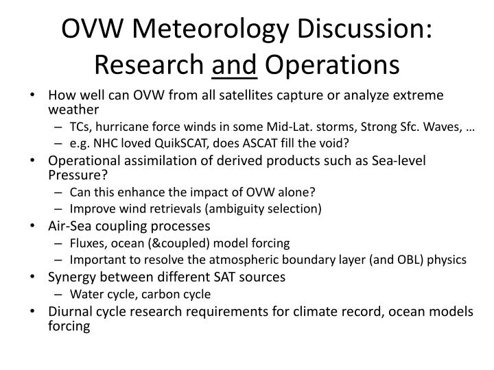 ovw meteorology discussion research and operations n.