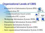 organizational levels of cbis