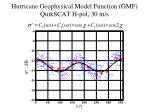 hurricane geophysical model function gmf quikscat h pol 30 m s