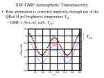 xw gmf atmospheric transmissivity