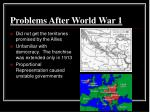 problems after world war 1