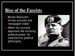 rise of the fascists