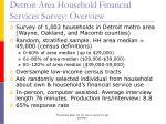 detroit area household financial services survey overview