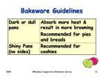 bakeware guidelines