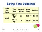baking time guidelines