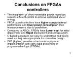conclusions on fpgas controllers