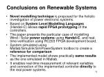 conclusions on renewable systems