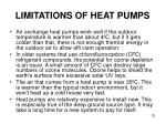 limitations of heat pumps