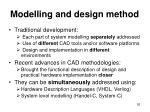 modelling and design method