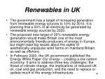 renewables in uk