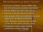 benito mussolini italian fascism