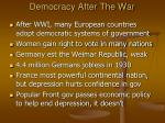 democracy after the war