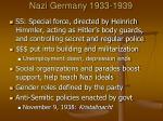 nazi germany 1933 1939