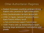 other authoritarian regimes