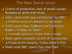 the new soviet union