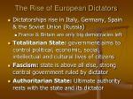 the rise of european dictators