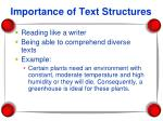 importance of text structures