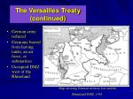 the versailles treaty continued