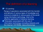 the definition of e learning