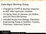 data mgmt working group