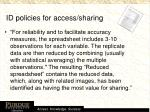 id policies for access sharing