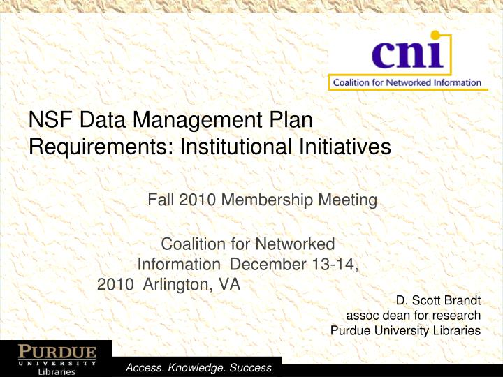 nsf data management plan requirements institutional initiatives n.