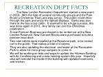 recreation dept facts