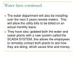 water facts continued