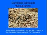 cambodia genocide killing fields