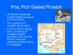 pol pot gains power