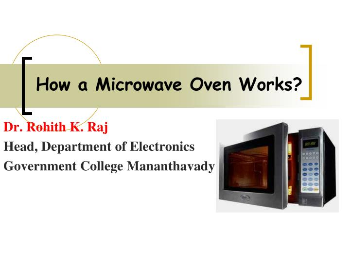 how a microwave oven works n.