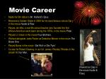 movie career