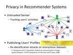 privacy in recommender systems