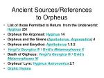 ancient sources references to orpheus1