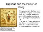 orpheus and the power of song