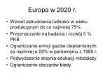 europa w 2020 r