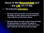 jesus is the resurrection and the life 11 17 453