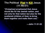 the political plot to kill jesus 11 46 575