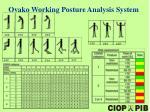 ova k o working posture analysis system