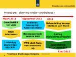 procedure planning onder voorbehoud