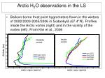 arctic h 2 o observations in the ls