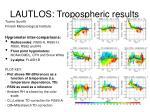 lautlos tropospheric results