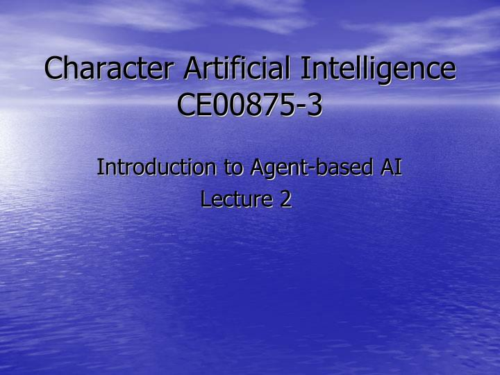 character artificial intelligence ce00875 3 n.