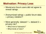 motivation privacy loss