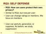 rq3 self defense