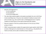 aligns to the standards and reflects good practice1